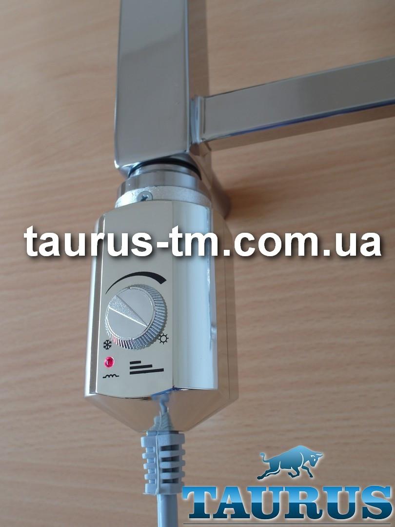 Электрический ТЭН Volux chrome для полотенцесушителя, ручной регулятор: 13-65C + подсветка. Польша; 600-900W