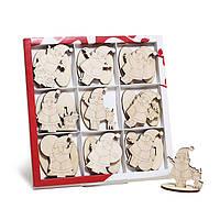 Набор новогодних фигурок - Деды морозы на подставке