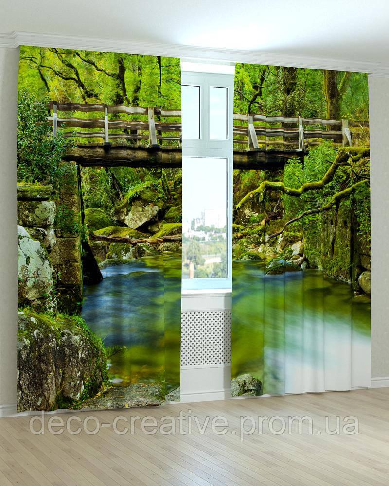 Фотошторы мост в джунглях