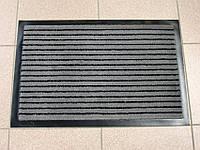 Ковер грязезащитный Полоска без вкраплений, 90х150см., серый