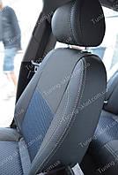 Чехлы на сиденья Ауди А4 Б6 (чехлы из экокожи Audi A4 B6 стиль Premium)