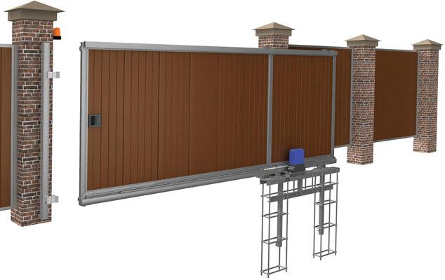 Автоматические откатные ворота, схема