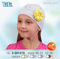 Шапка для девочки TuTu арт. 3-001479