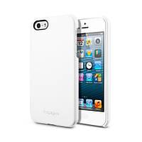 Чехол-накладка SGP Case Genuine Leather Grip Series White for iPhone 5/5S (SGP09602)