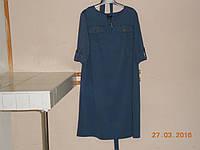Платье-распашенка джинсовой расцветки, фото 1