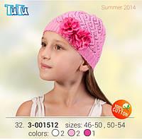 Шапка для девочки TuTu арт. 3-001512