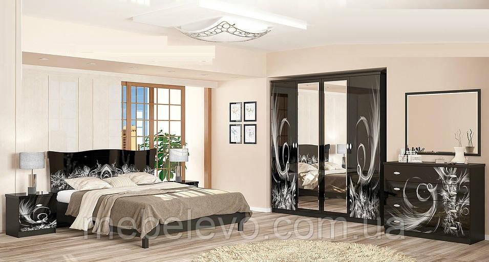 Спальня Ева комплект венге темный   Мебель-Сервис