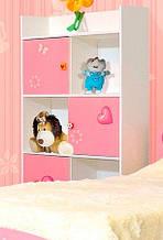Шафа в дитячу кімнату з ДСП/МДФ книжкова Мульті Фея Світ Меблів
