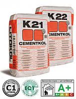 Клей для керамической плитки CEMENTKOL K22 белый 25кг
