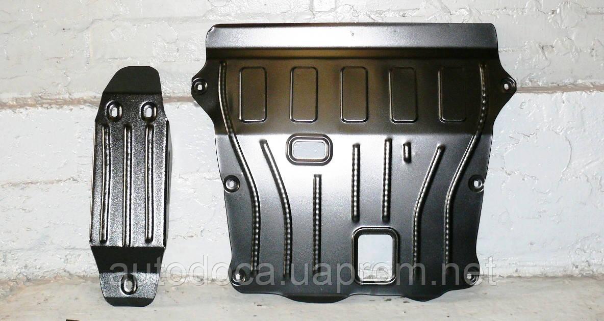 Защита картера двигателя и кпп, диф-ла, топливного бака  Renault Duster 2010-