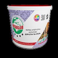 Краска акриловая интерьерная Anserglob 7 кг для стен и потолка