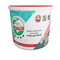 Краска акриловая интерьерная стойкая к мытью Anserglob 1,4 кг