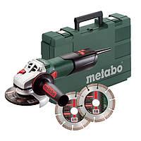 Угловая шлифовальная машина (болгарка) Metabo W 9-125 Quick + алмазные диски Metabo