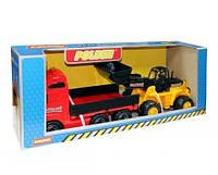 Автомобиль бортовой+трактор-погрузчик Polesie (в коробке)