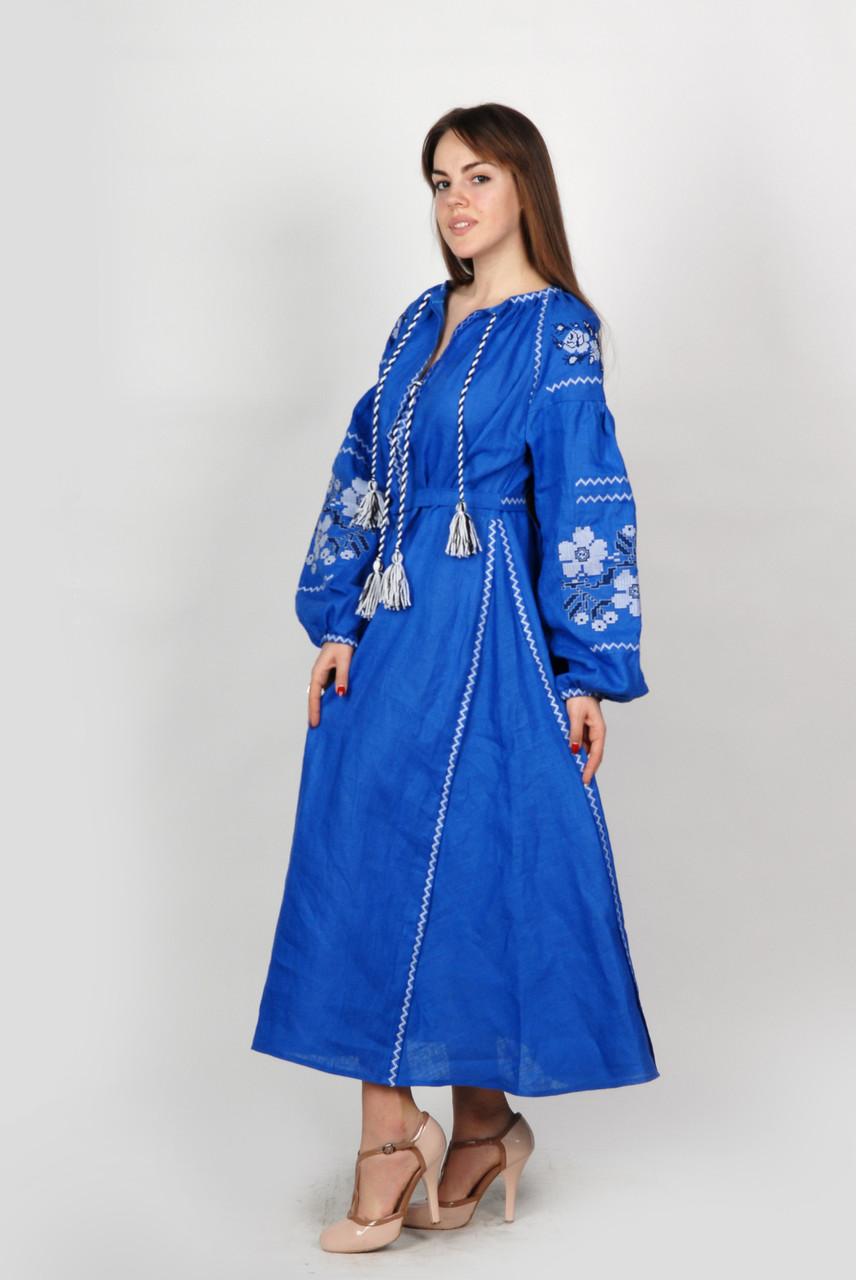 Дизайнерское платье-вышиванка «Цветы» e67e1e892c10c