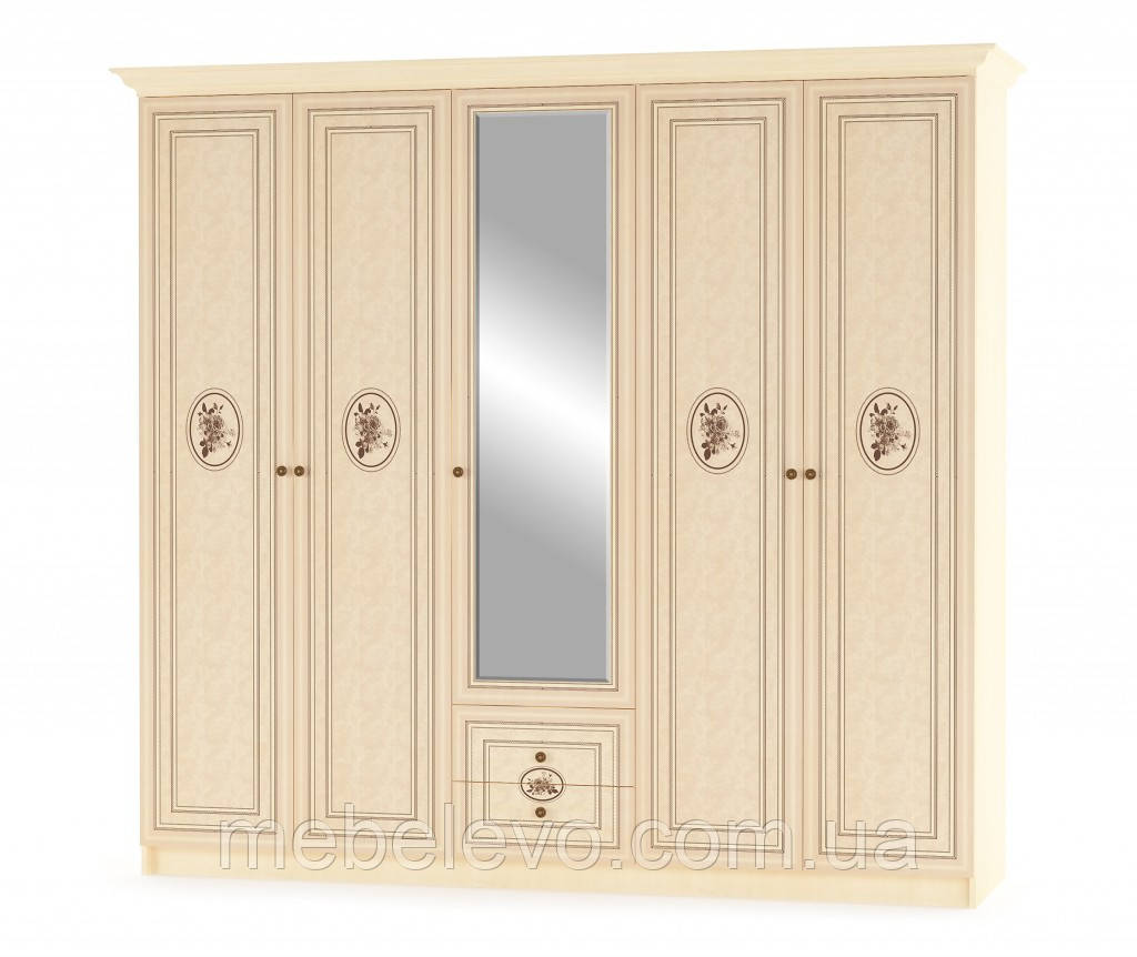 Шкаф Флорис 5Д 2125х2274х584мм клен   Мебель-Сервис