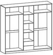 Шкаф Флорис 5Д 2125х2274х584мм клен   Мебель-Сервис, фото 2