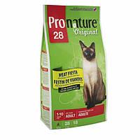 Pronature Original ПРОНАТЮР ОРИНДЖИНАЛ МЯСНАЯ ФИЕСТА супер премиум корм для взрослых котов