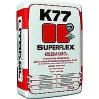 Клей для крупноформатного керамогранита толстослойный SUPERFLEX K77 белый