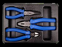 Набор шарнирногубц. инструмента 3 предмета (плоскобцы,бокорезы,тонкогубцы) KINGTONY 9-40103GP