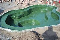 Пруд садовый под заказ (гидроизоляция стеклопластиком)