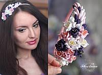 """""""Эйфория"""" обруч/веночек с цветами из полимерной глины, фото 1"""