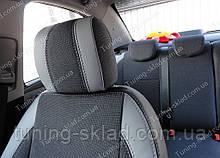 Чохли на сидіння Шевроле Авео Т300 (чохли з екошкіри Chevrolet Aveo Т300 стиль Premium)