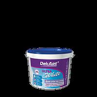 """Краска интерьерная для стен и потолков белоснежная """"Ultra White"""" DekArt 1,2кг"""