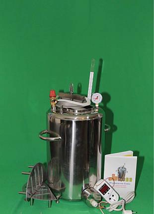 Автоклав бытовой электрический ЛЮКС 14 (сталь 2 мм/ 14 банок 0,5), фото 2
