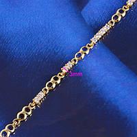 Позолоченный браслет с цирконами (GF292)