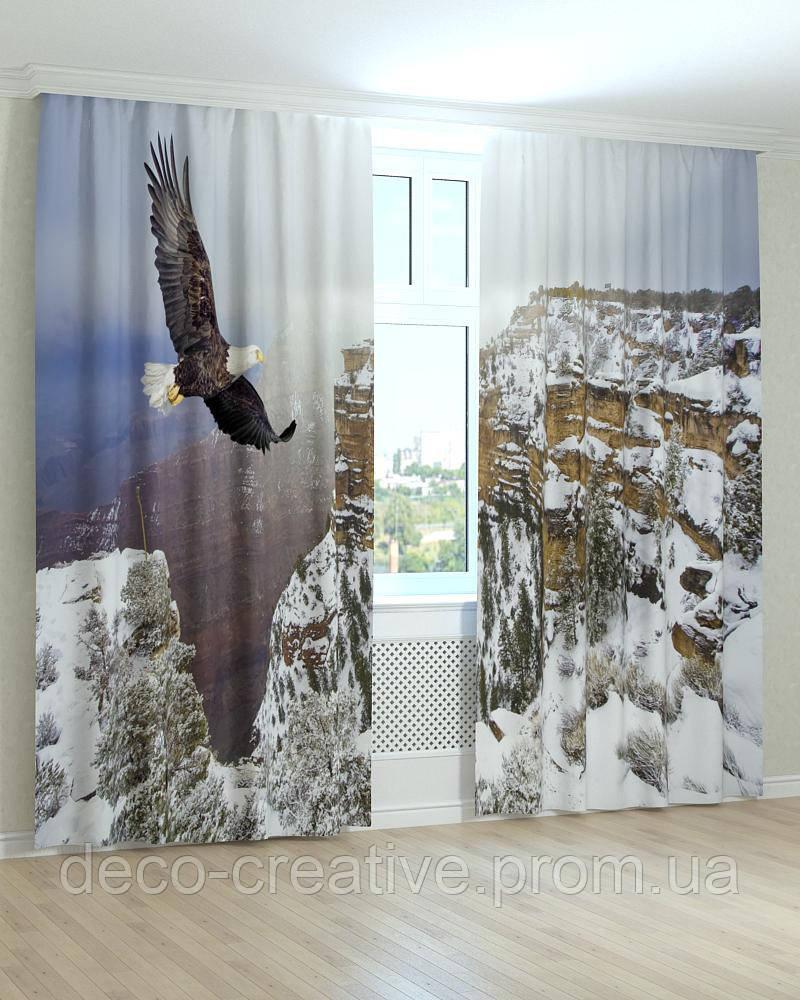 Фотошторы полет орла над  горами
