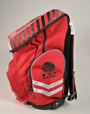 """Ортопедический рюкзак Tiger 1728-3 """"Racing """" красный, фото 2"""