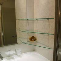 Стеклянные полки для ванной комнаты, фото 1