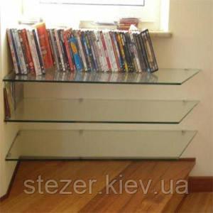 Книжные полки из стекла