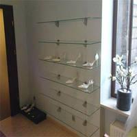Стеклянные полки для обуви
