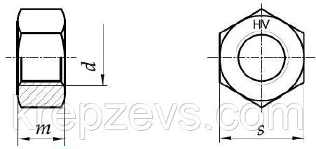 Гайка М12 чертеж