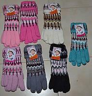 Перчатки женские узор с отворотом