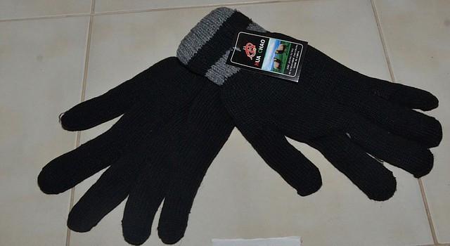 Перчатки мужские двойной вязки.