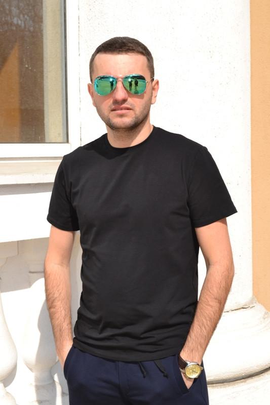Качественная мужская футболка от производителя   Черная  купить в ... e965c64e789