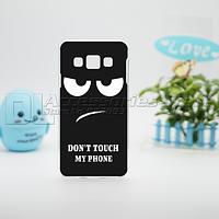 Чехол для Samsung Galaxy A5 с картинками не трогай мой телефон