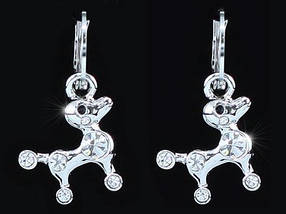Серьги Puppy Dog Earrings use Swarovski Crystal SE372