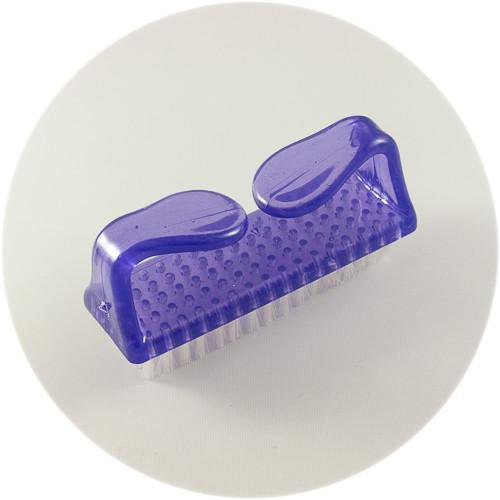щетка-сметка прямоугольная с пластиковой ручкой фиолетовая