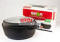 Гусятница (утятница) алюминиевая 2,5л с антипригарным покрытием, утолщ. дном, крышкой-сковородой