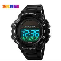 Часы Skmei Solar 1129 на солнечной батарее Black