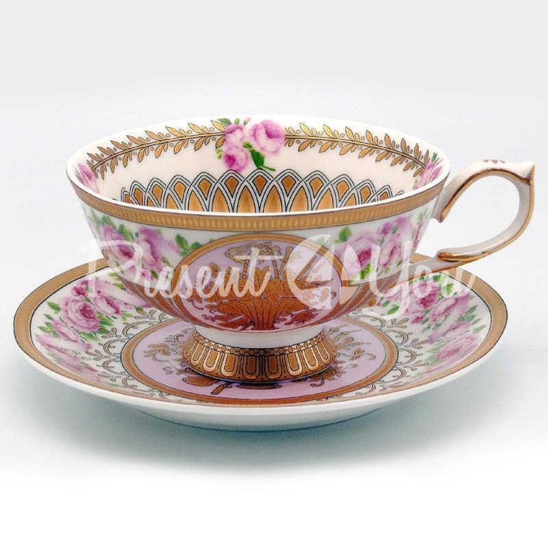 Чашка с блюдцем «Розовый цветок», 200 мл.
