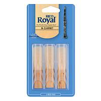 Трости для кларнета RICO Royal - Bb Clarinet #2.5 - 3-Pack