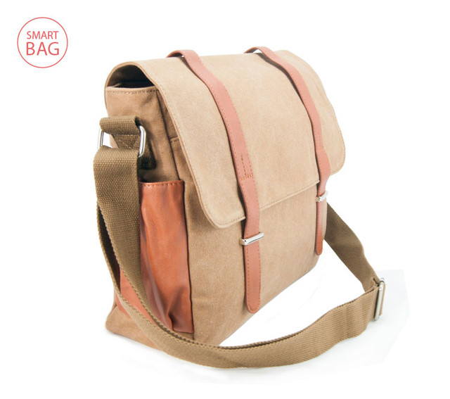 Молодежная мужская сумка через плечо Zeroback   вид сбоку