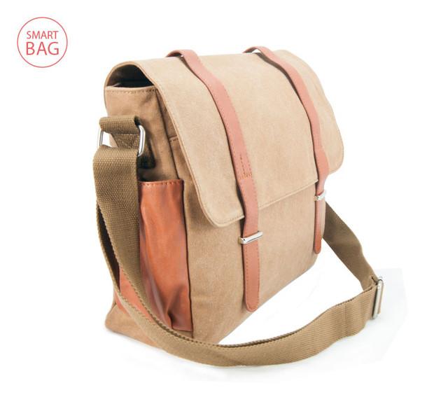 Молодежная мужская сумка через плечо Zeroback | вид сбоку