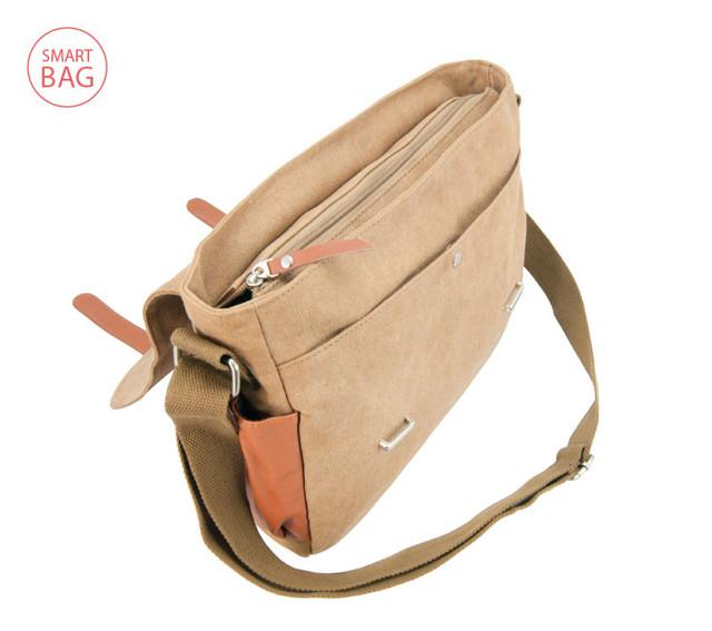 Молодежная мужская сумка через плечо Zeroback   вид сверху