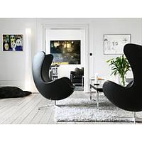 Кресло ЭГГ черное (СДМ мебель-ТМ)